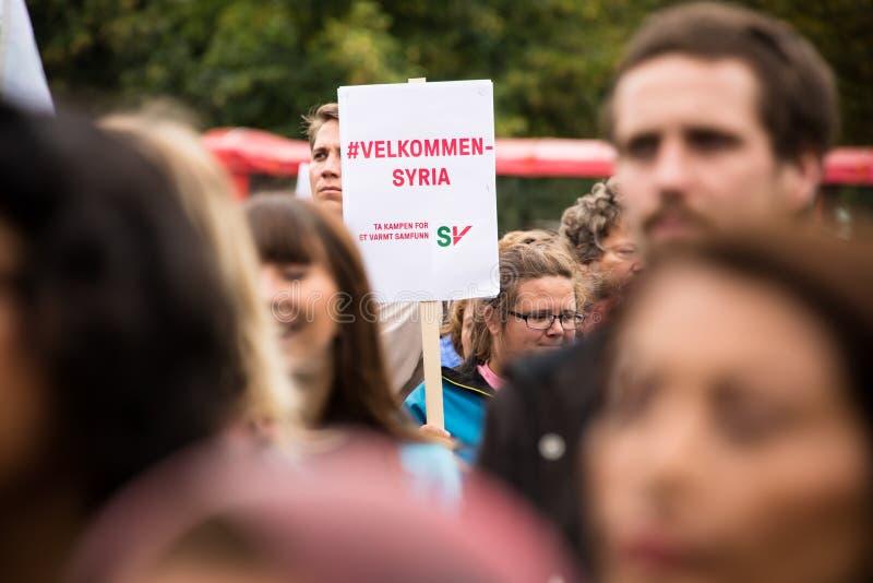 Raduno di diritti del rifugiato fotografia stock libera da diritti