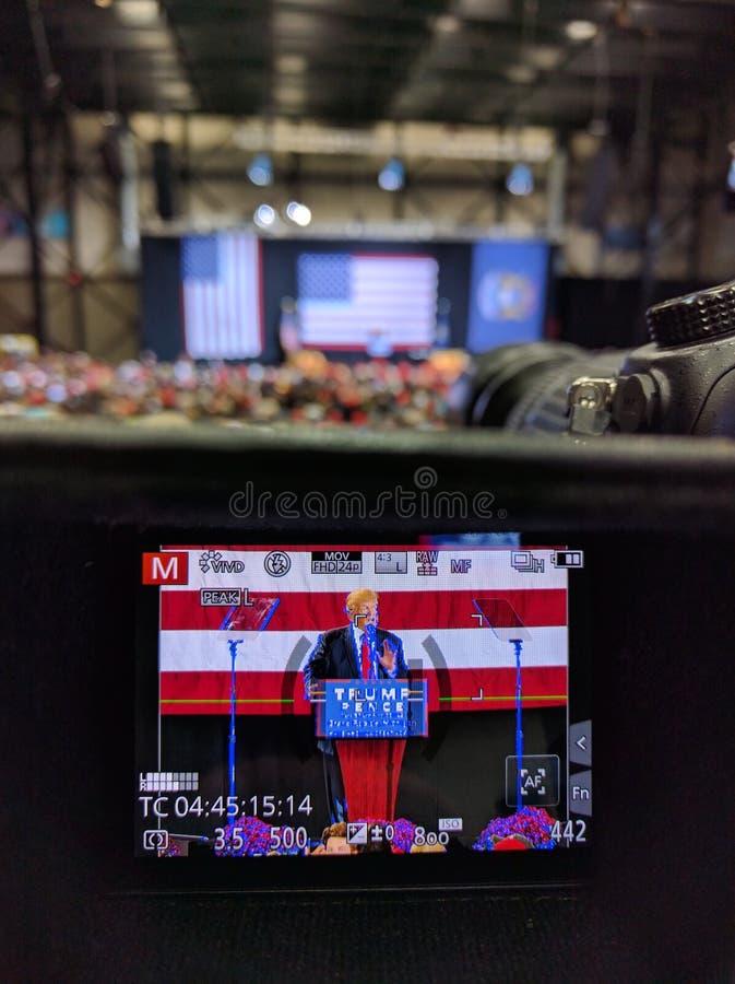 Raduno di Donald Trump fotografie stock libere da diritti