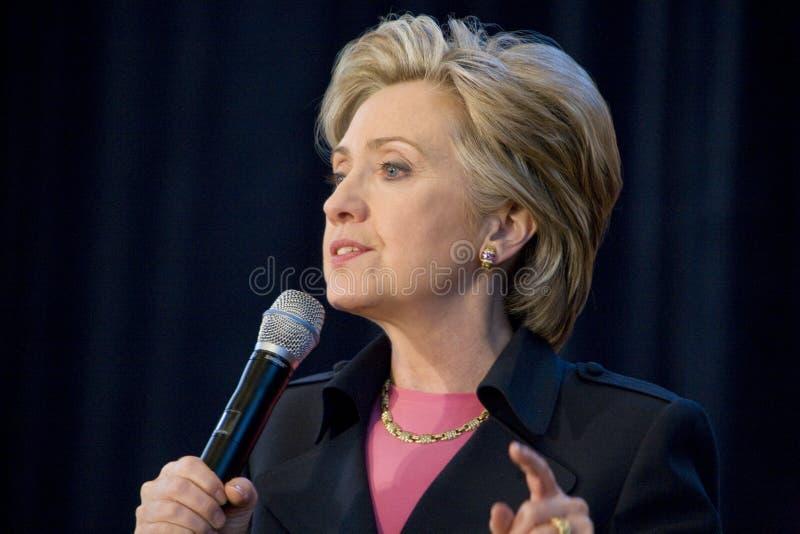Raduno di Hillary Clinton immagini stock libere da diritti