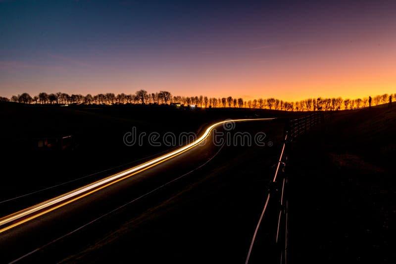 Raduno di notte immagine stock