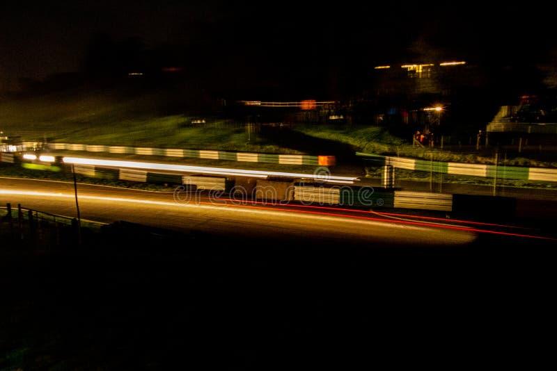 Raduno di notte fotografie stock