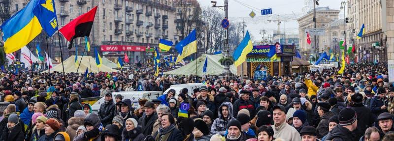 Raduno per integrazione europea nel centro di Kiev fotografie stock