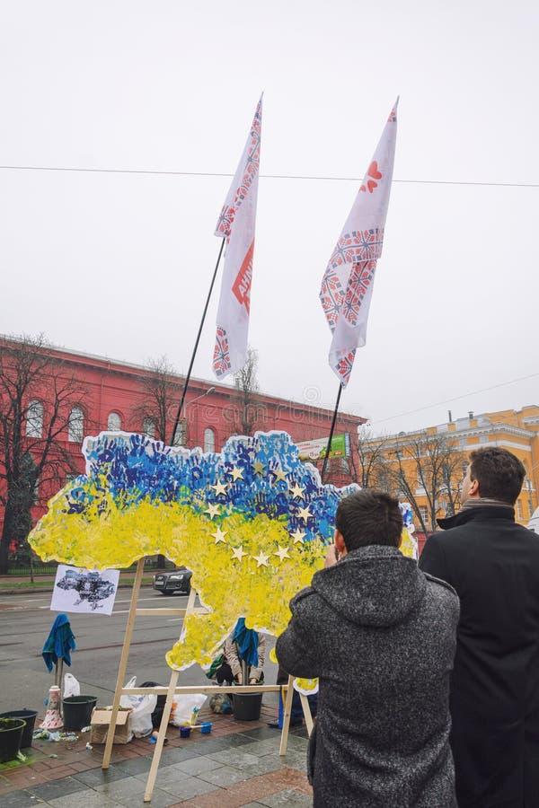 Raduno a sostegno di integrazione europea. L'Ucraina fotografie stock