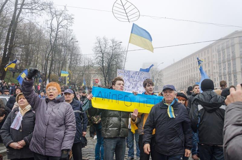 Raduno a sostegno di integrazione europea. L'Ucraina fotografie stock libere da diritti