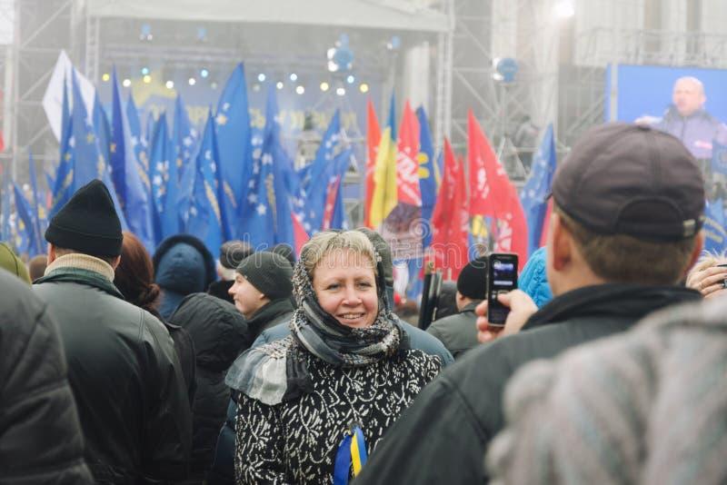 Raduno a sostegno di integrazione europea. L'Ucraina immagine stock libera da diritti
