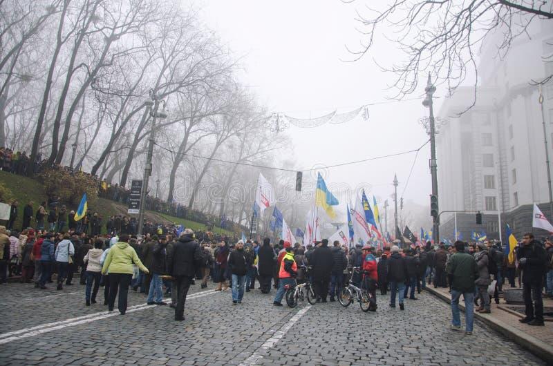 Raduno a sostegno di integrazione europea. L'Ucraina fotografia stock