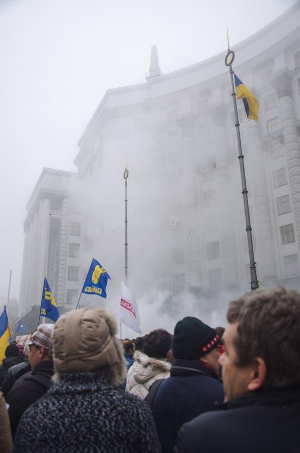 Raduno a sostegno di integrazione europea. L'Ucraina fotografia stock libera da diritti