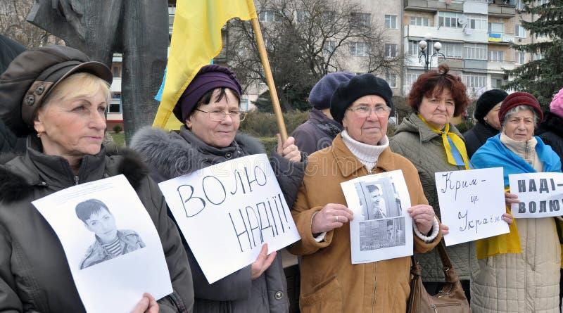Raduno a sostegno di Nadia Savchenko fotografia stock