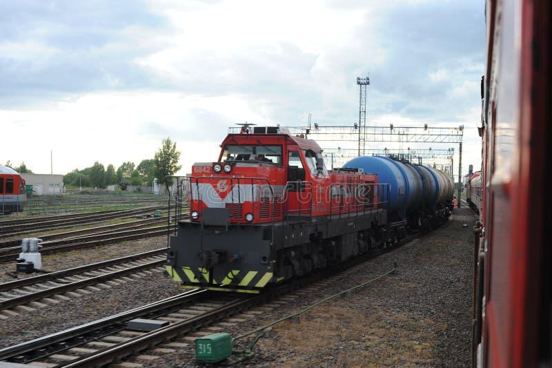 RADVILISKIS, LITHUANIA - JUNE 26, 2011: Lithuania Railway Network and Tracks. Lithuania Railway Network and Tracks stock image