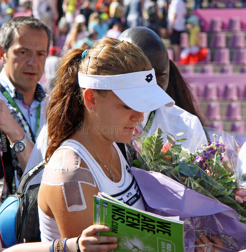 Radwanska Wins 2012 WTA Brussels Open Editorial Photography