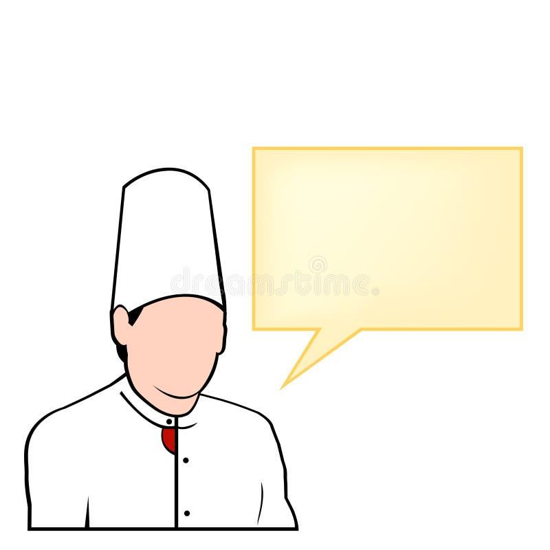 radzi szef kuchni komiczki tooltip royalty ilustracja