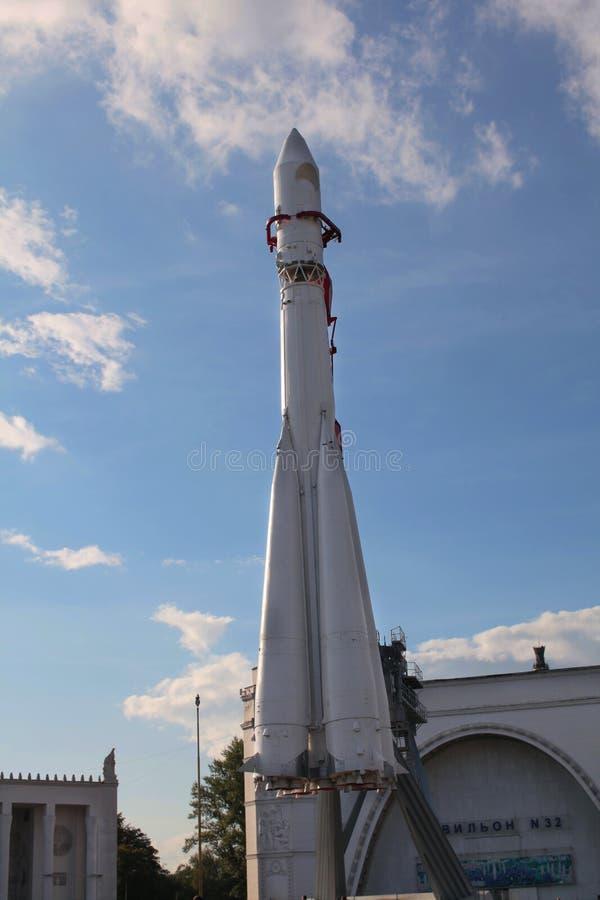 Radziecka astronautyczna rakieta Vostok. VVC, Moskwa zdjęcia stock