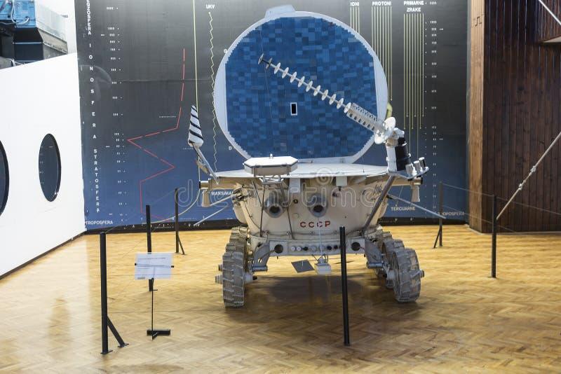 Radziecka Księżycowa replika w Nikola Tesla Technicznym muzeum w Zagreb, Chorwacja fotografia royalty free