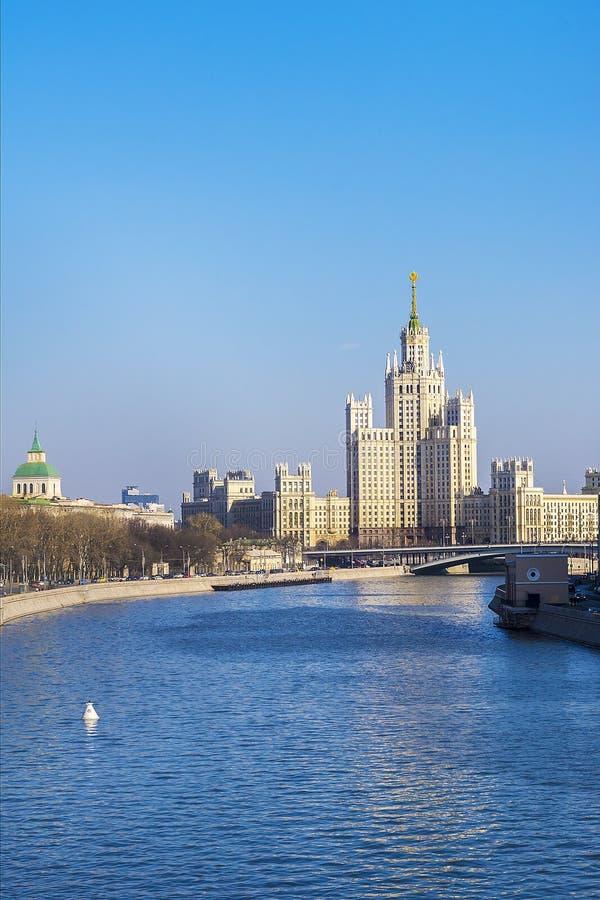 Radziecki drapacz chmur w Moskwa, Rosja zdjęcie royalty free