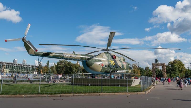 Radziecki helikopter przy VDNKH zdjęcie stock