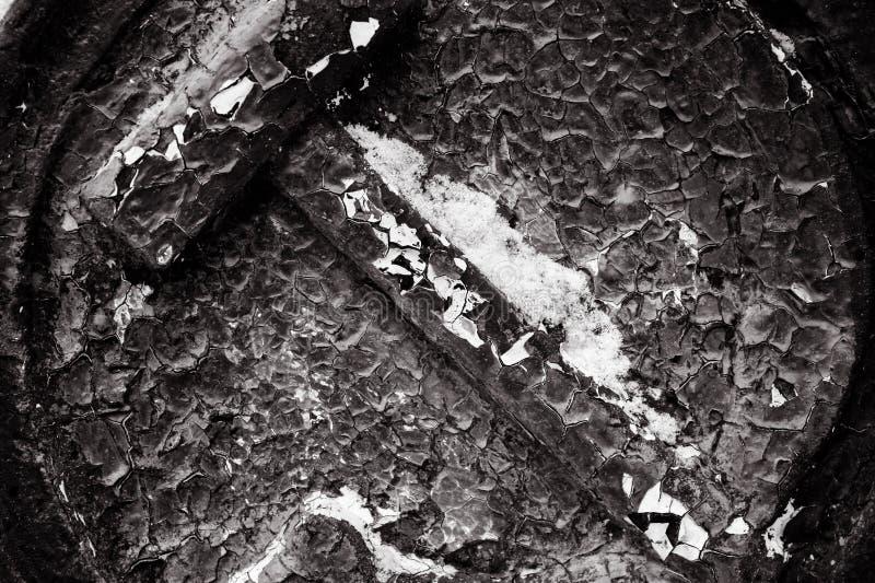 Radziecki stary metal forged dekoraci czarny i biały fotografię, zakończenie zdjęcia stock