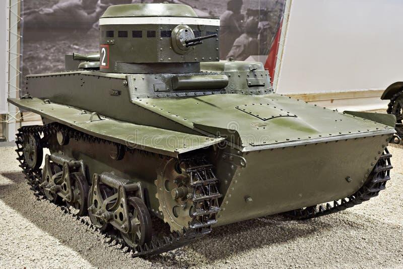 Radziecki ziemnowodny lekki zbiornik T-37A obrazy stock