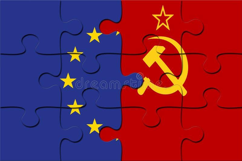 Radziecki Związek Radziecki - flaga Unii Europejskiej zdjęcia stock
