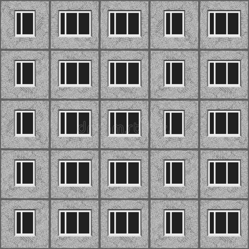 Radzieckiej architektury panelu domu wzoru tekstury popielaty zjednoczony element royalty ilustracja