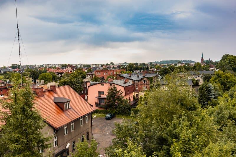 Radzionkow. 15 June - Radzionkow/,Silesia,Polandpanoramic view at Radzionkow town royalty free stock images