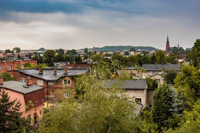 Radzionkow. 15 June - Radzionkow/,Silesia,Polandpanoramic view at Radzionkow town stock photos