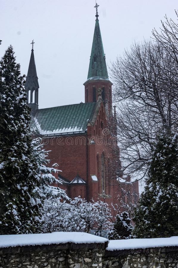 CHurch. Radzionkow, Poland 04 February 2018 - Church in Radzionkow town, Silesia, Poland royalty free stock photo