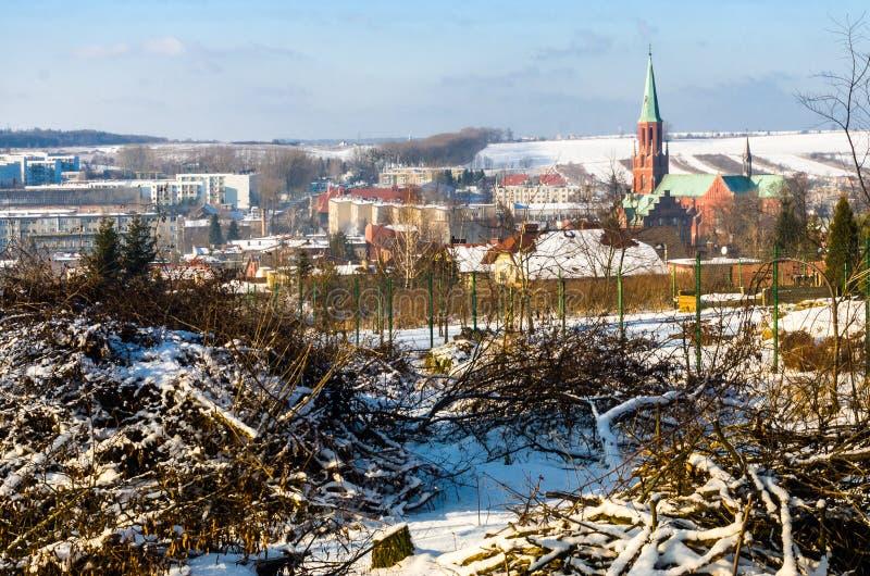Radzionkow. Winter overview of Radzionkow town. Silesia Poland royalty free stock photos