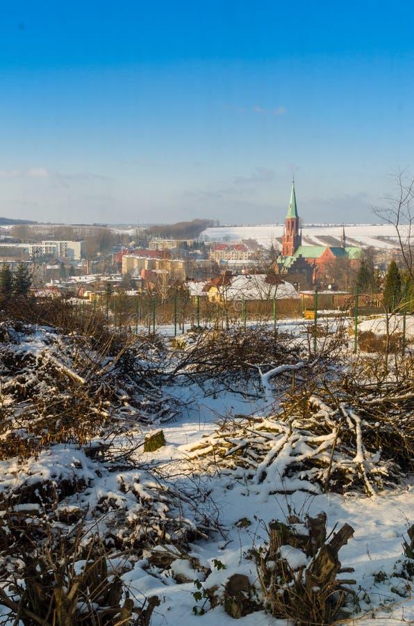 Radzionkow. Winter overview of Radzionkow town. Silesia Poland royalty free stock image
