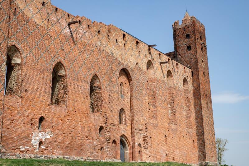 Radzyn Chelminski, kujawsko-pomorskie/Polônia - abril, 24, 2019: Castelo Teutonic na Europa Central Uma fortaleza velha construíd imagens de stock
