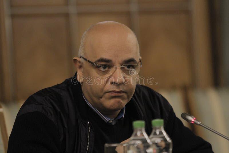 Raed Arafat, Secretario de Estado en el ministerio de la rueda de prensa de los asuntos internos imágenes de archivo libres de regalías