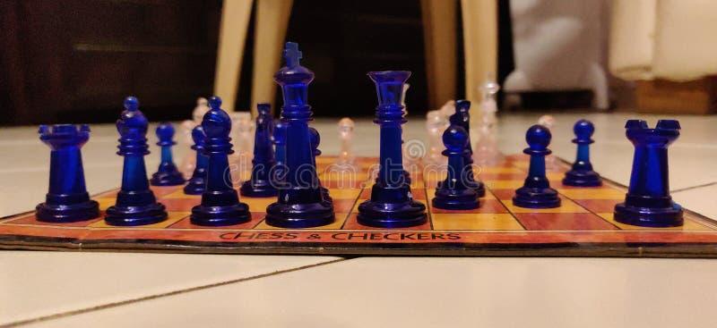 Raedy per giocare scacchi fotografia stock libera da diritti