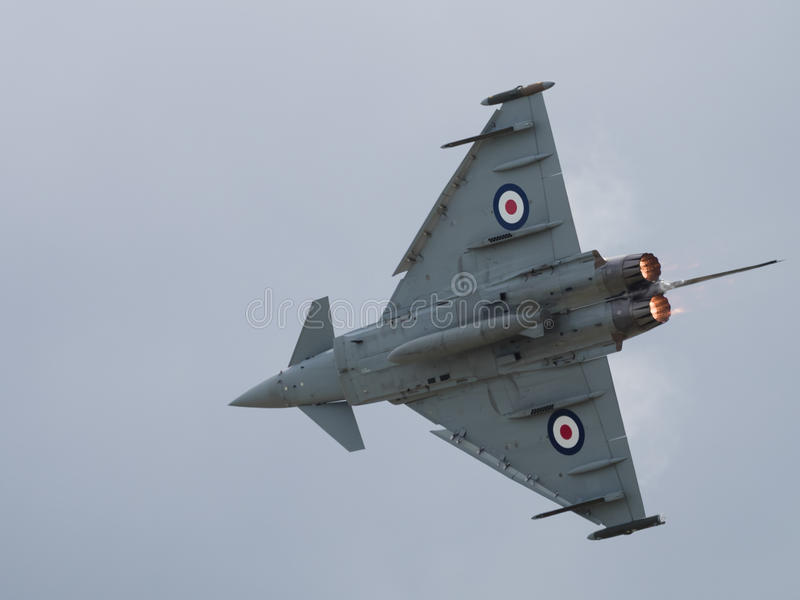 RAF αεριωθούμενος μαχητής τυφώνα στοκ φωτογραφία με δικαίωμα ελεύθερης χρήσης
