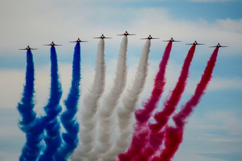 RAF κόκκινα βέλη στοκ εικόνα με δικαίωμα ελεύθερης χρήσης