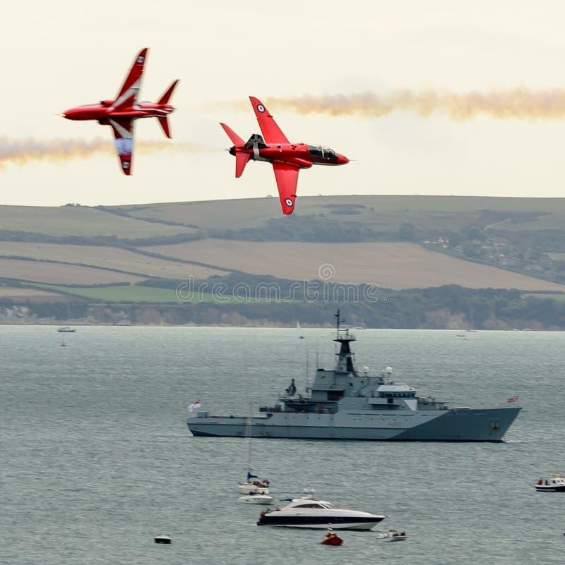 RAF κόκκινη ομάδα βελών στοκ φωτογραφίες με δικαίωμα ελεύθερης χρήσης
