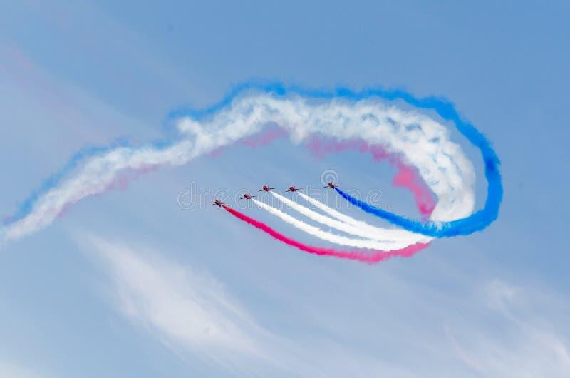 RAF κόκκινη ομάδα βελών στοκ εικόνα με δικαίωμα ελεύθερης χρήσης