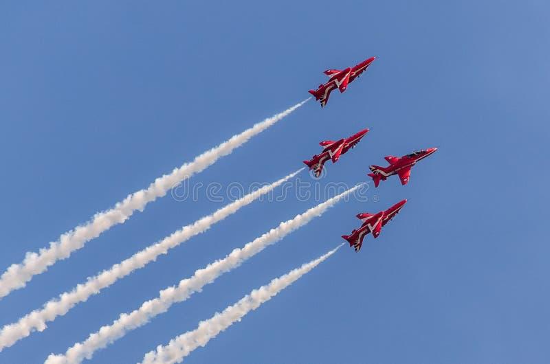 RAF κόκκινη ομάδα βελών στοκ φωτογραφία
