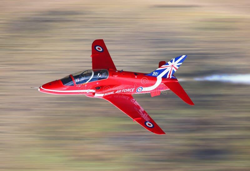 RAF κόκκινο αεριωθούμενο αεροπλάνο βελών στοκ φωτογραφία