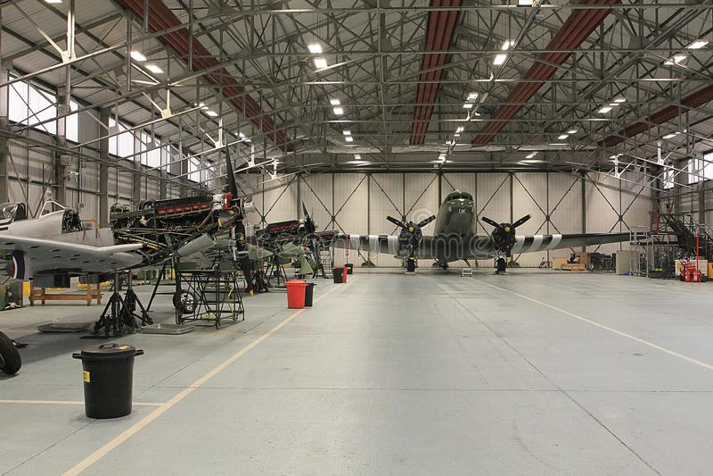 RAF bitwa Brytania lota Pamiątkowy hangar obrazy royalty free