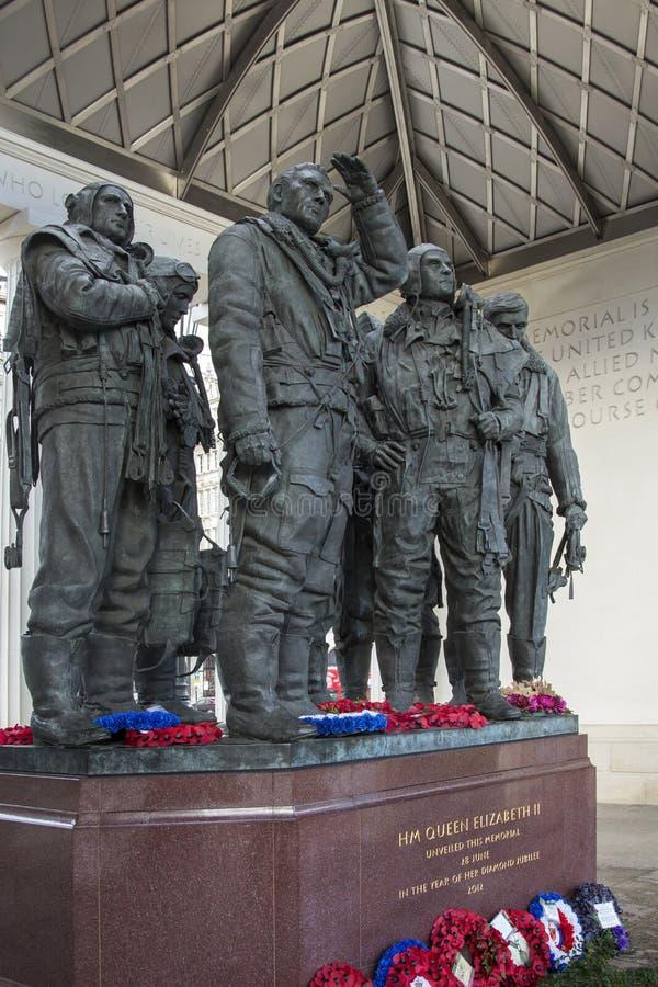 RAF Bomber Command Memorial - London - England stock photo