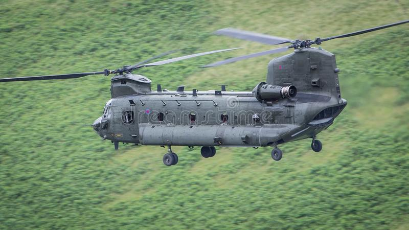 RAF Chinook helikopter obraz royalty free