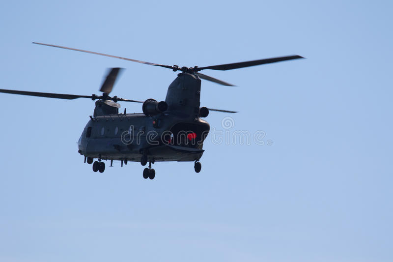 RAF Chinook in Wales Nationale Airshow, Swansea royalty-vrije stock foto