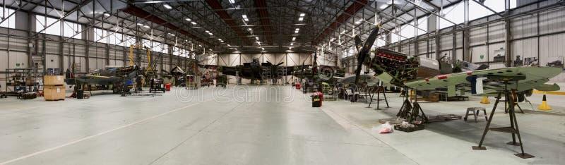 RAF Coningsby bitwa Brytania lota Pamiątkowy hangar obraz royalty free