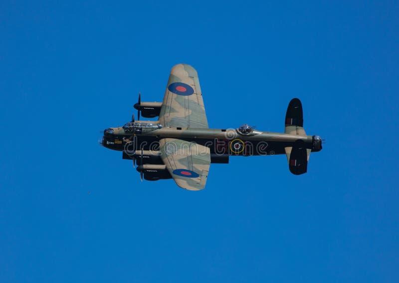 RAF Coningsby, le Lincolnshire, R-U, septembre 2017, bombardier PA474 d'Avro Lancaster de la bataille du vol comm?moratif de Gran photos libres de droits