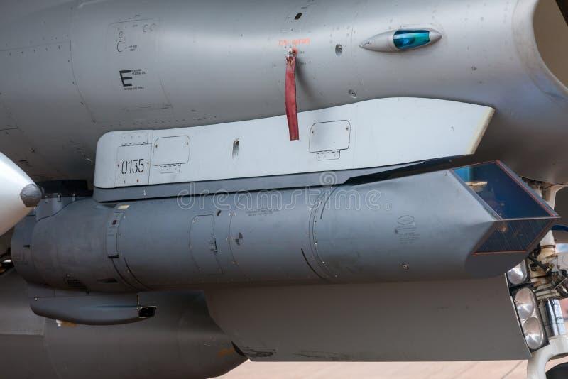 Lockheed Martin AN/AAQ-33 Sniper targeting pod for military aircraft stock photos