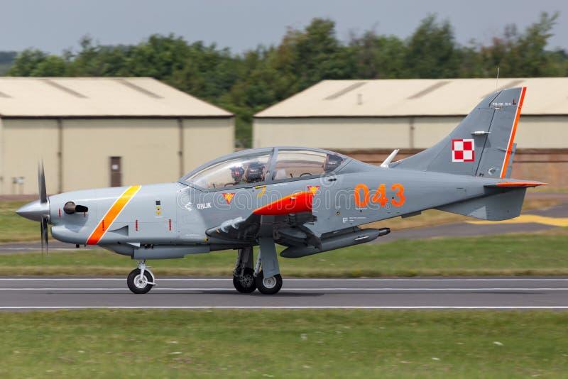 Polish Air Force PZL-Okecie PZL-130 TC-1 Orlik turboprop, single engine, two seat trainer aircraft. RAF Fairford, Gloucestershire, UK - July 12, 2014: Polish stock images