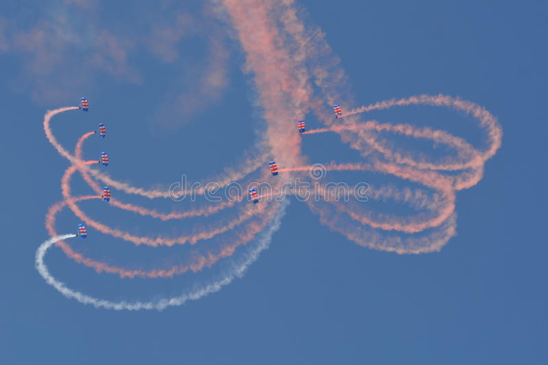 RAF Falcons royaltyfri foto