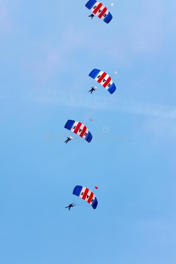 RAF Falcons Display Team royaltyfri foto