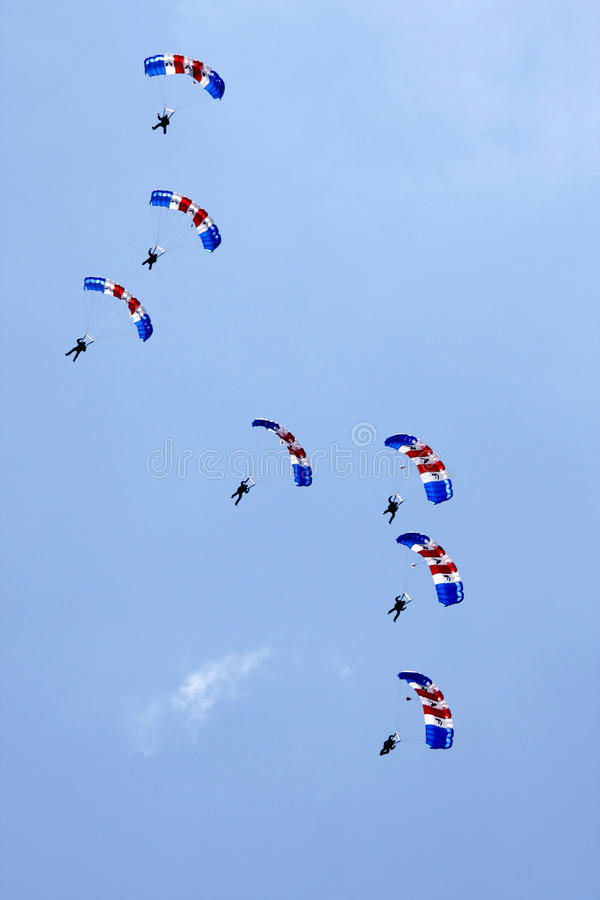 RAF Falcons parachute display royalty free stock photos