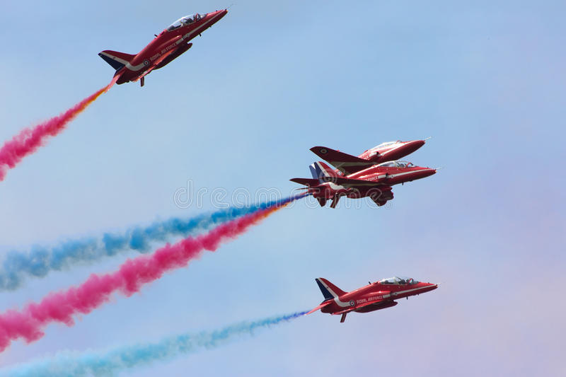 RAF Red Arrows image stock