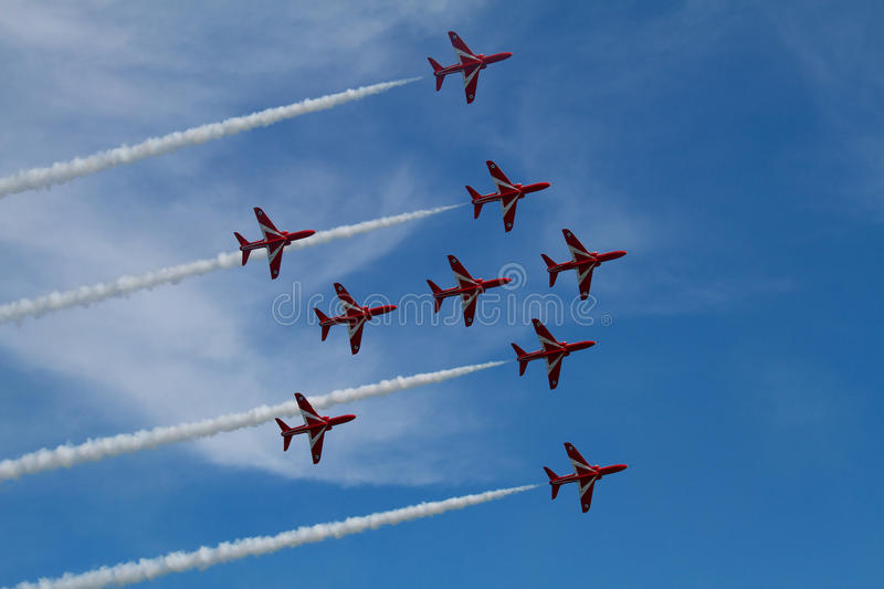 Download RAF Red Arrows Display Team Stock Photo - Image of sussex, fighter: 33056334